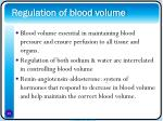 regulation of blood volume