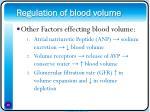 regulation of blood volume16