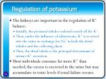 regulation of potassium