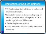 regulation of sodium balance24