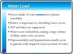 water load