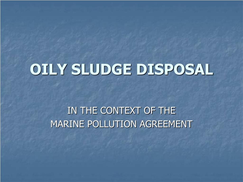 oily sludge disposal l.