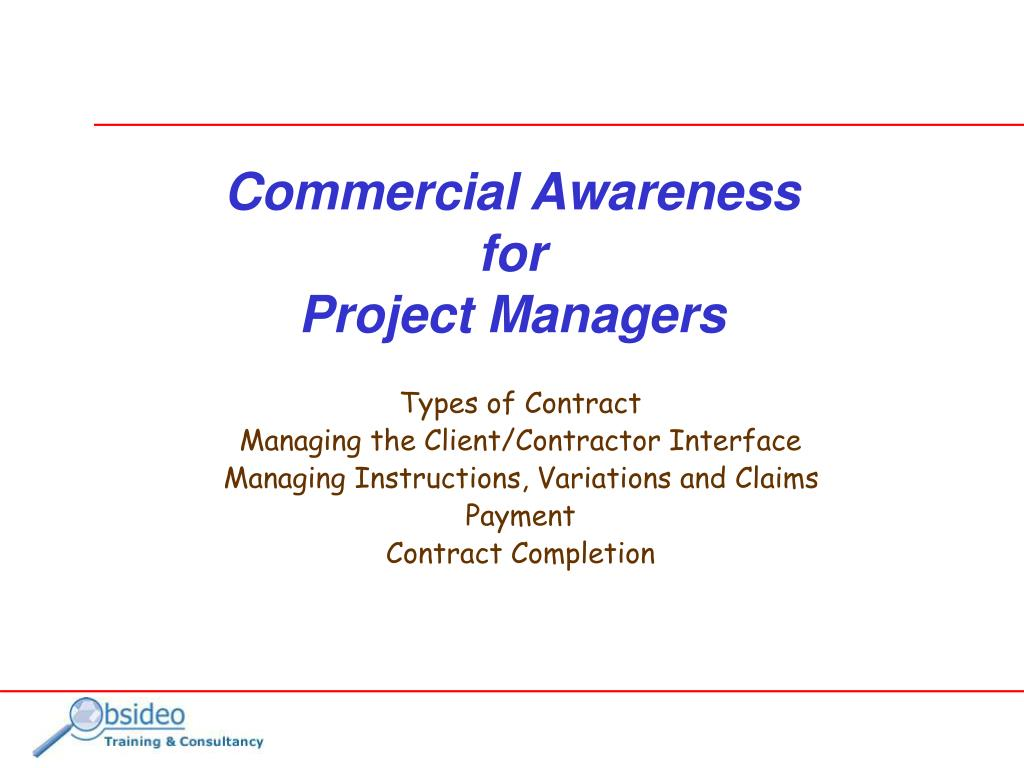 commercial awareness for project managers l.