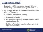 destination 2025