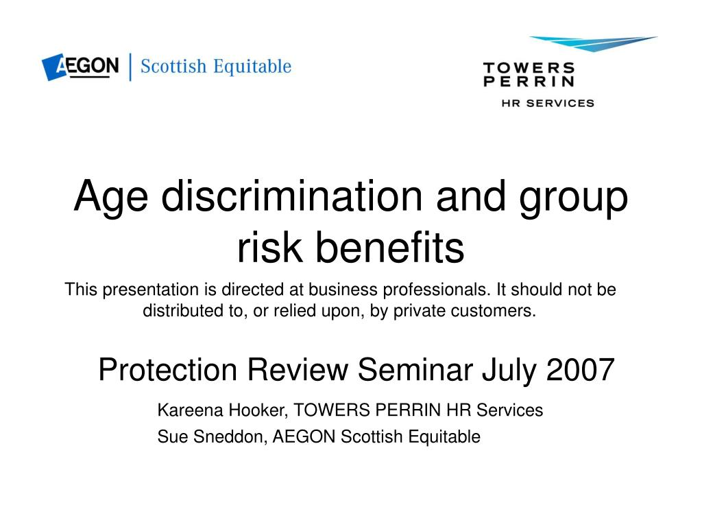 age discrimination and group risk benefits l.