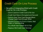 credit card on line process