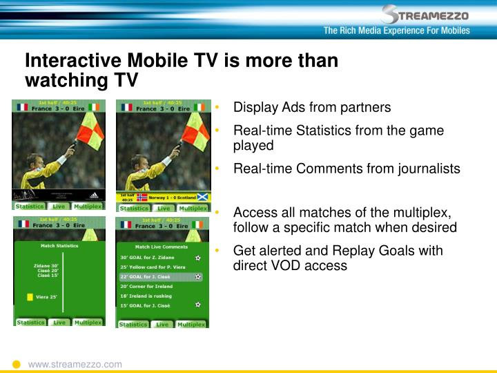Interactive mobile tv is more than watching tv