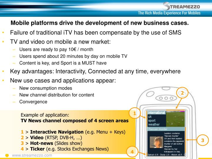 Mobile platforms drive the development of new business cases