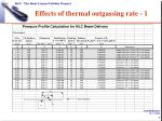 effects of thermal outgassing rate 1
