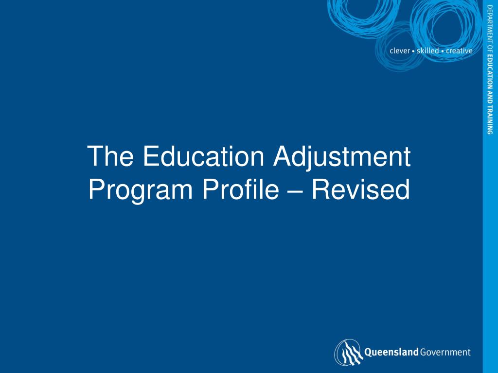 the education adjustment program profile revised l.