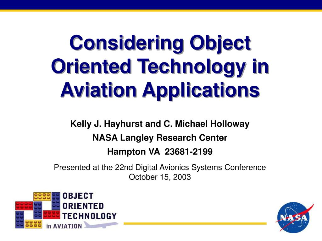 considering object oriented technology in aviation applications l.