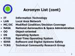 acronym list cont
