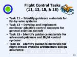 flight control tasks 11 13 15 18