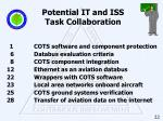 potential it and iss task collaboration