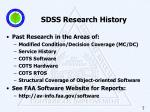 sdss research history