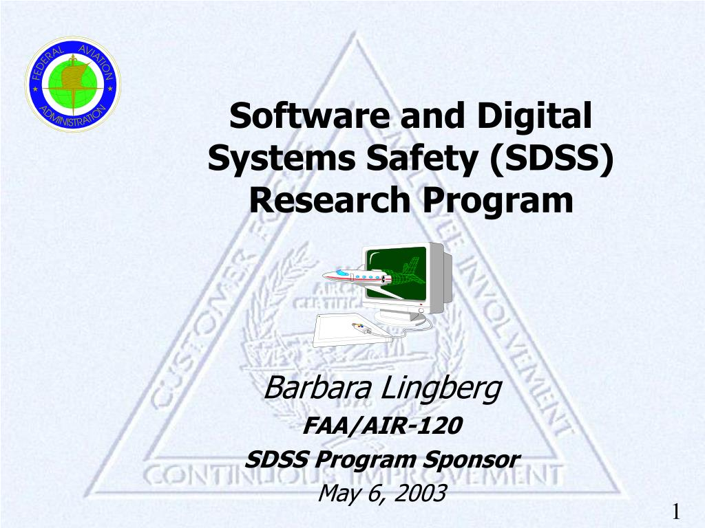 software and digital systems safety sdss research program l.