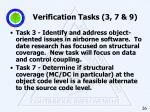 verification tasks 3 7 9