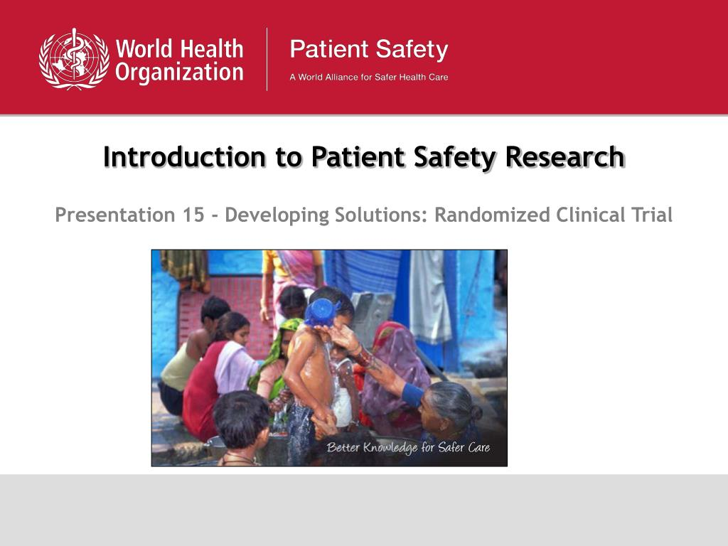 introduction to patient safety research l.