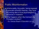 public misinformation