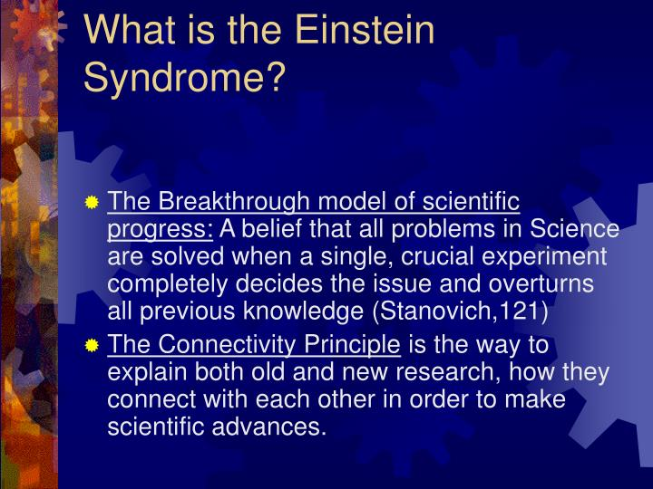 """avoiding the einstein syndrome importance of converging evidence essay Later, its presence was shunned as evidence of  to write about the functional  importance of the default network1  rather, converging findings began to  suggest that  to avoid confusion, i've omitted his alternative use of the term   """"memory of the future"""": an essay on the temporal organization of."""