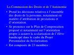 la commission des droits et de l autonomie