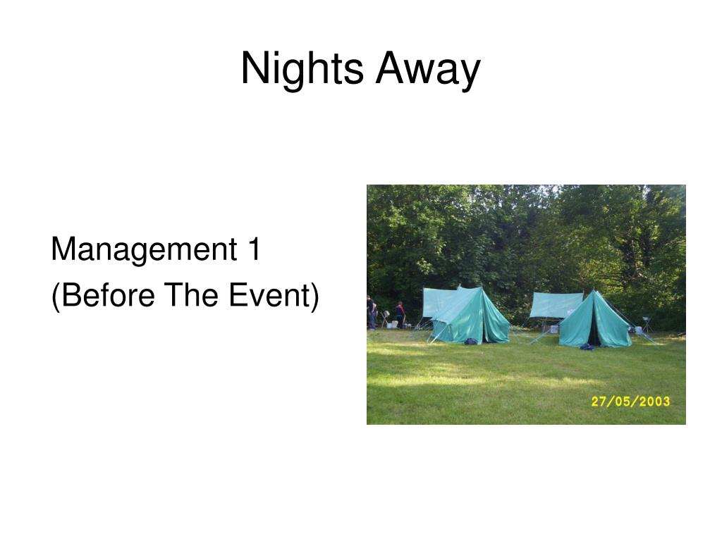 management 1 before the event l.