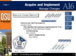 ai6 acquire and implement manage changes
