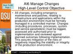 ai6 manage changes high level control objective
