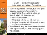 c obi t control objectives for information and related technology10
