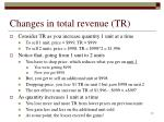 changes in total revenue tr