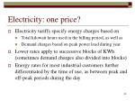 electricity one price