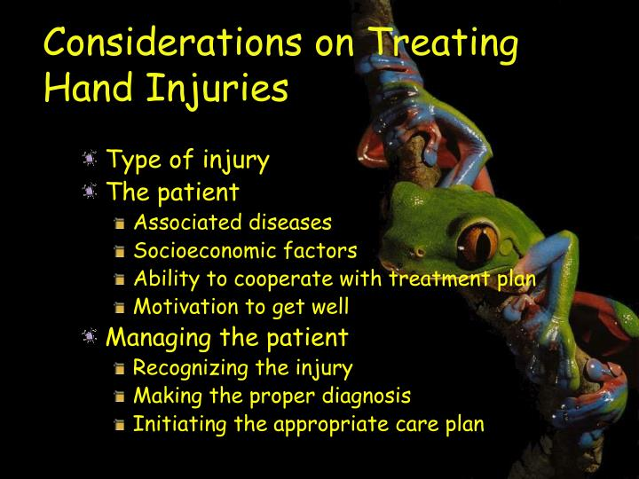Considerations on Treating