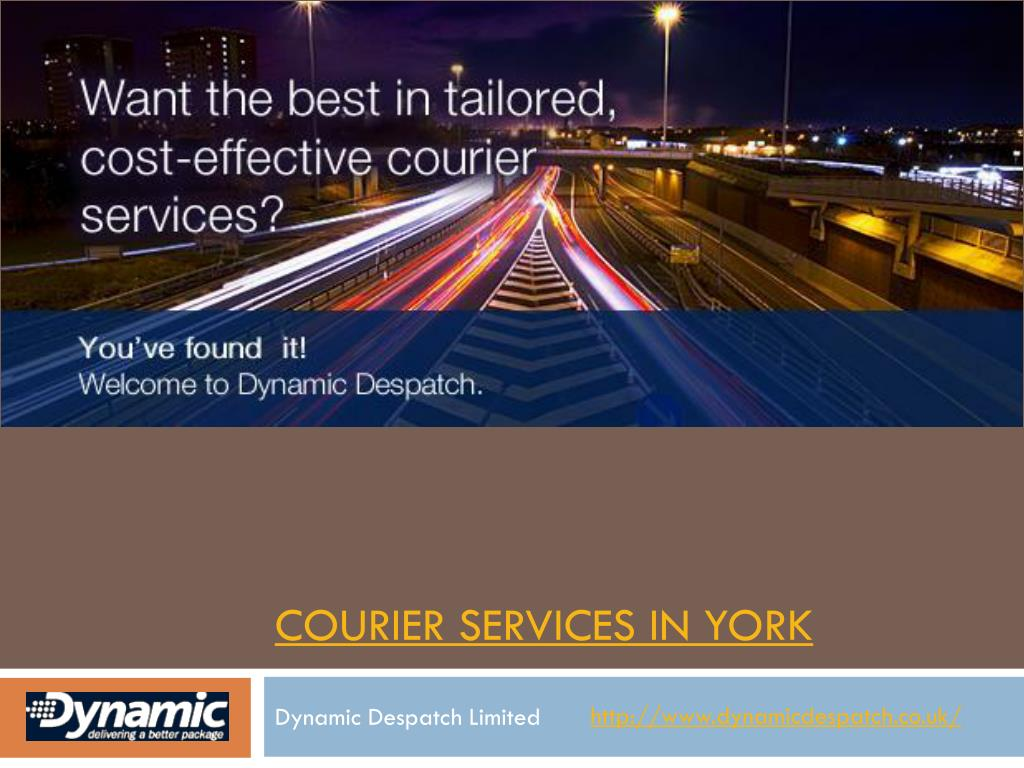 courier services in york l.