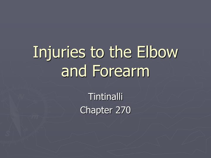 injuries to the elbow and forearm n.