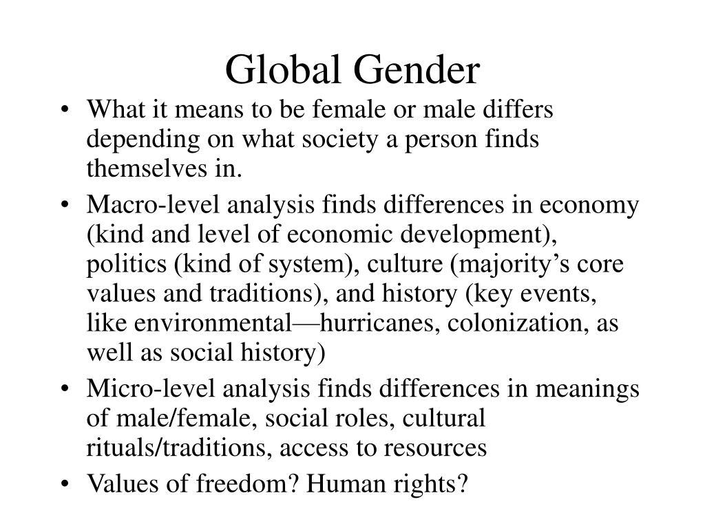global gender l.