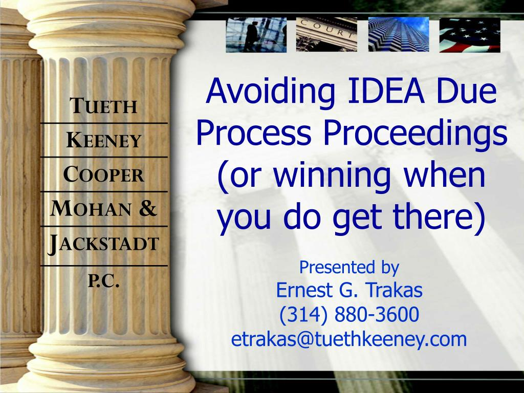 avoiding idea due process proceedings or winning when you do get there l.