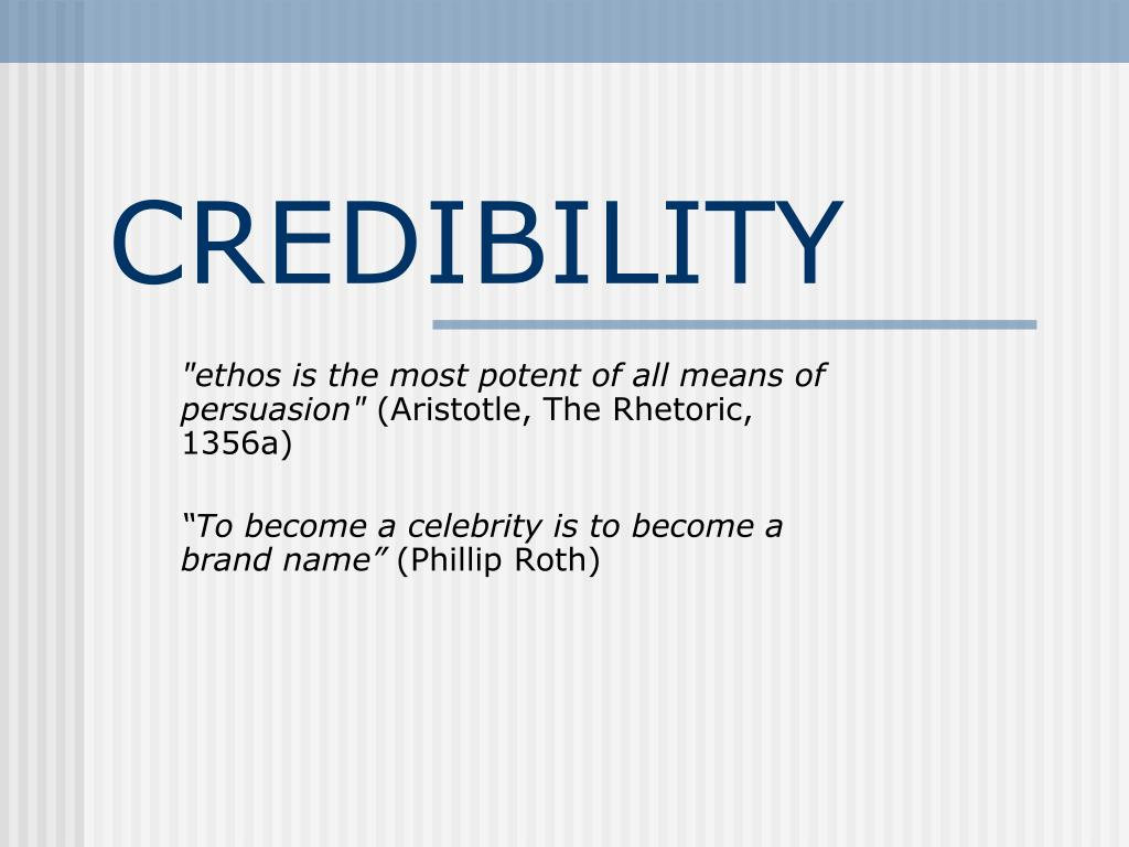 credibility l.