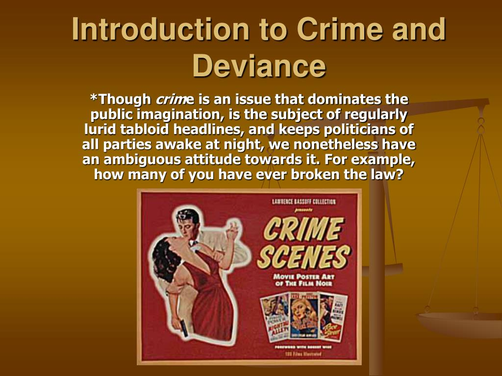 introduction to crime and deviance l.