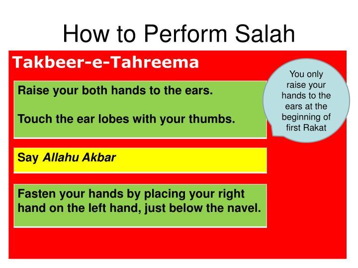 How to perform salah1