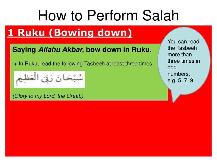 How to Perform Salah