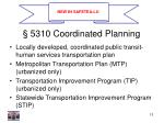 5310 coordinated planning