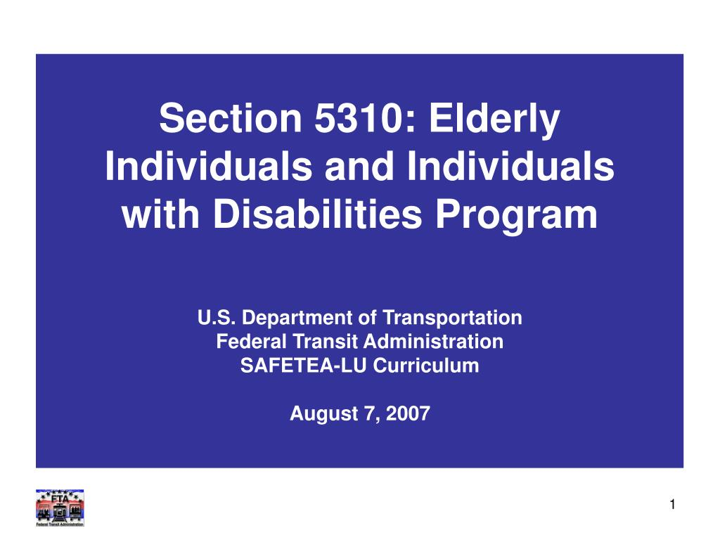 section 5310 elderly individuals and individuals with disabilities program l.