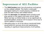 improvement of all facilities1