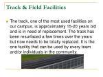 track field facilities