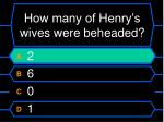 how many of henry s wives were beheaded16