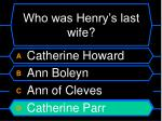 who was henry s last wife40