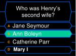 who was henry s second wife28