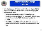 approved dlms change adc 268