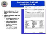 business object dlms 842a derived from sf 364