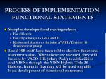 process of implementation functional statements